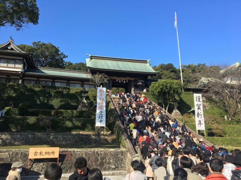 長崎の三社参り(諏訪神社→松森天満宮→伊勢宮神社)で、初詣さるくしてきたよ