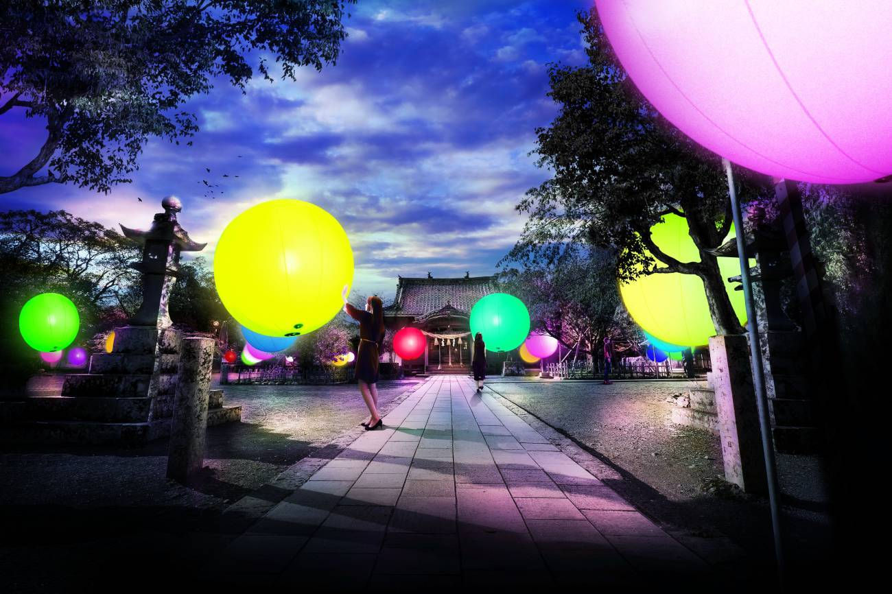 再びチームラボが大村に!今度は「大村の神社に浮遊する球体、呼吸する城跡と森」開催!