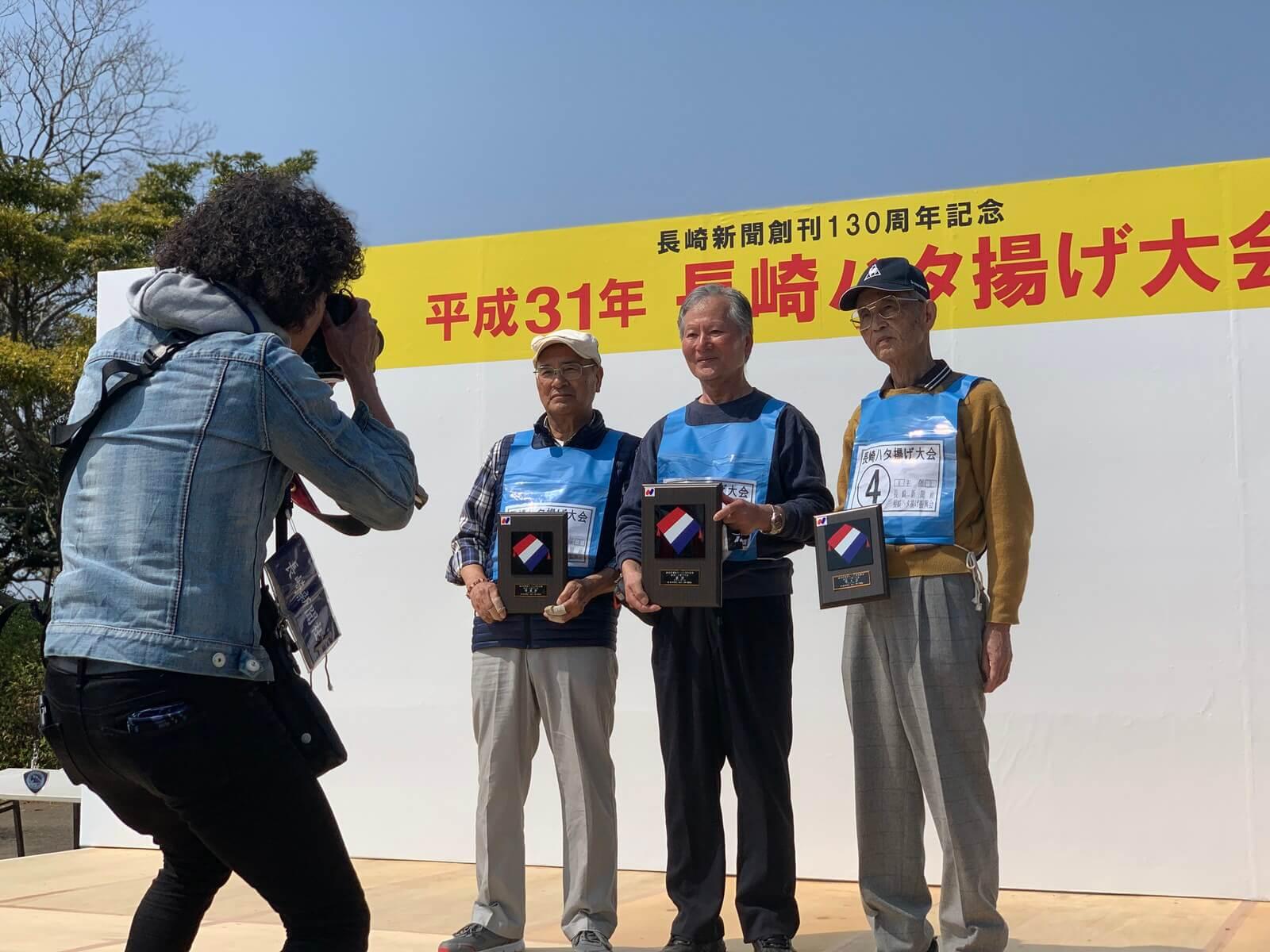 長崎3大行事のひとつ長崎ハタ揚げ大会