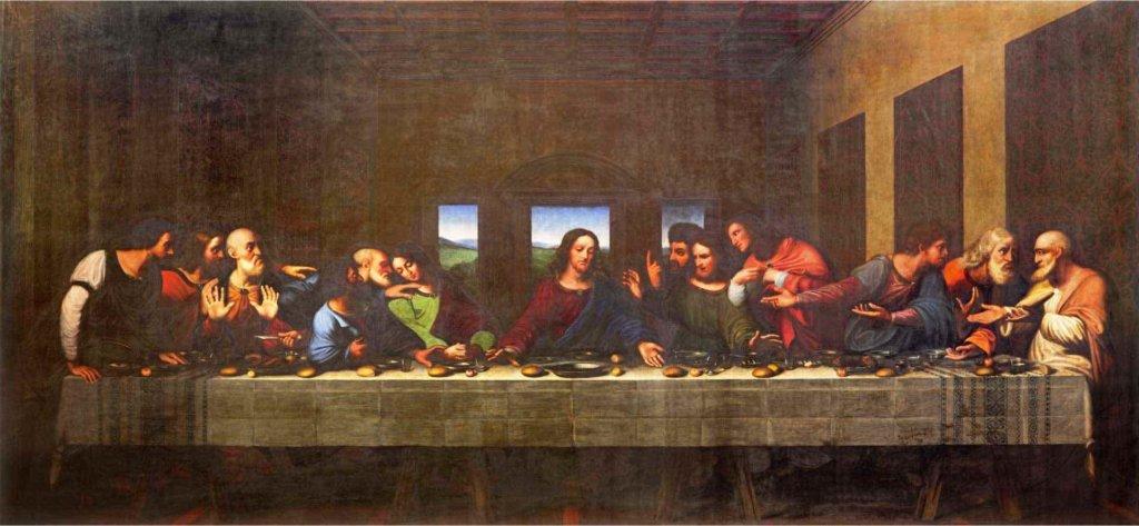 最後の晩餐とは、「12弟子の中の一人が私を裏切る」とキリストが予言した時の情景を描いたもの
