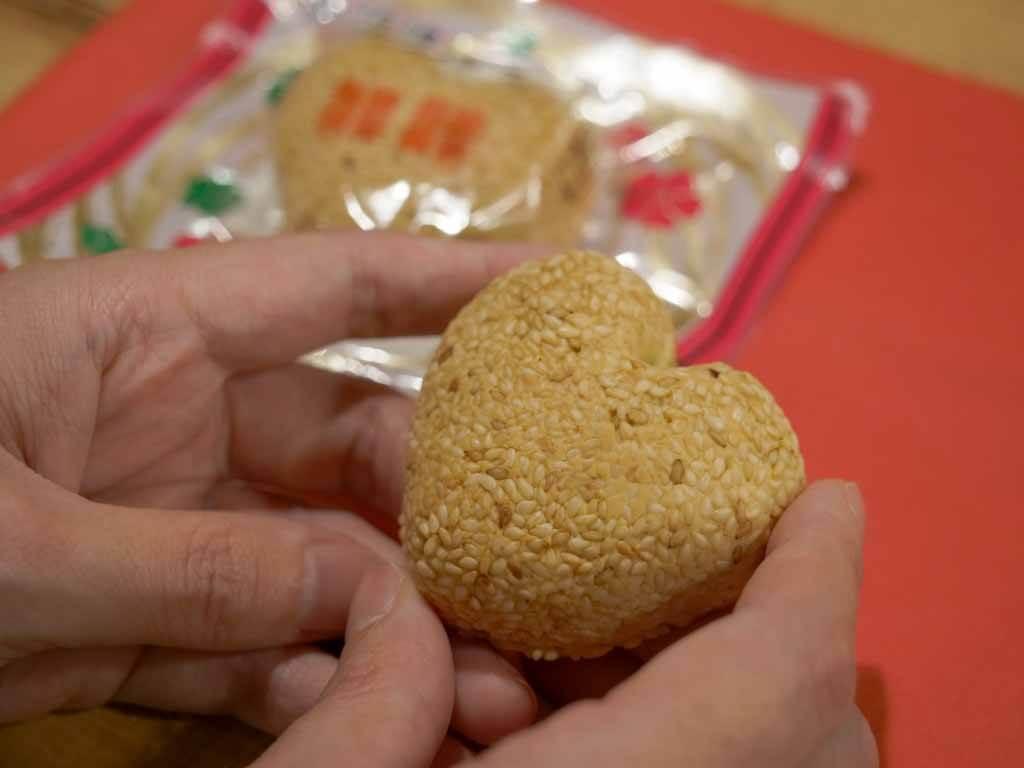 長崎新地中華街食べ歩きグルメ ハートの月餅|福建(ふっけん)
